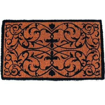 Iron Grate Rectangle 18 in. x 30 in. Extra Thick Hand Woven Coir Door Mat