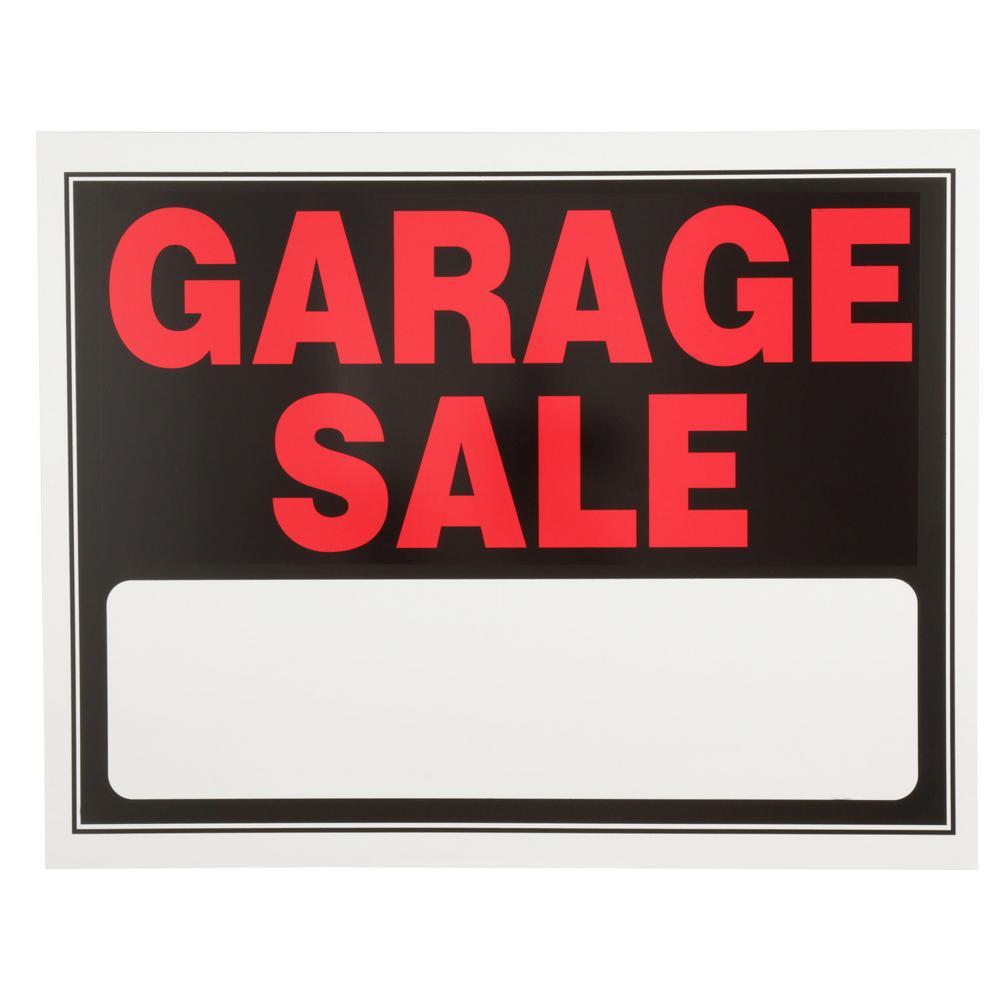 Everbilt 15 in. x 19 in. Day-Glow Plastic Garage Sale Sign
