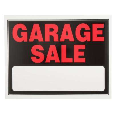 15 in. x 19 in. Day-Glow Plastic Garage Sale Sign