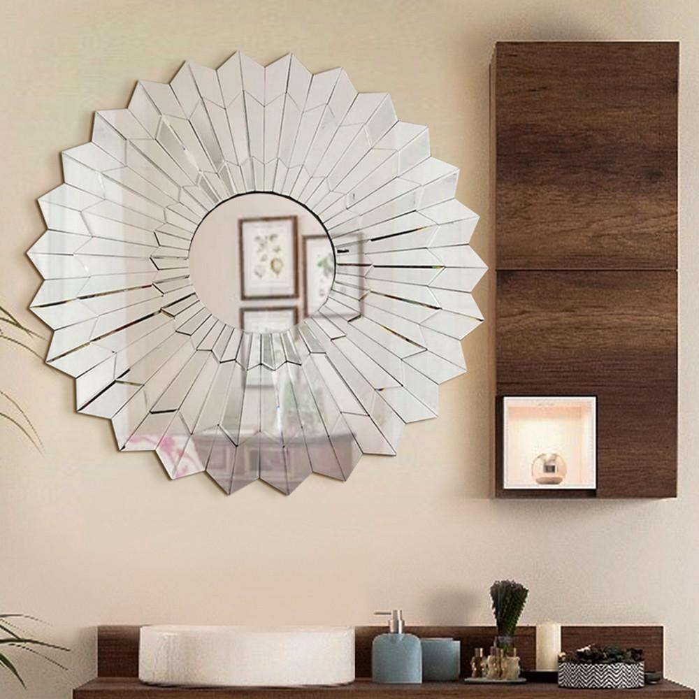 Unavoce 39.5 in. L x 39.5 in. W Stylish Round Frame Decorative Mirror Design