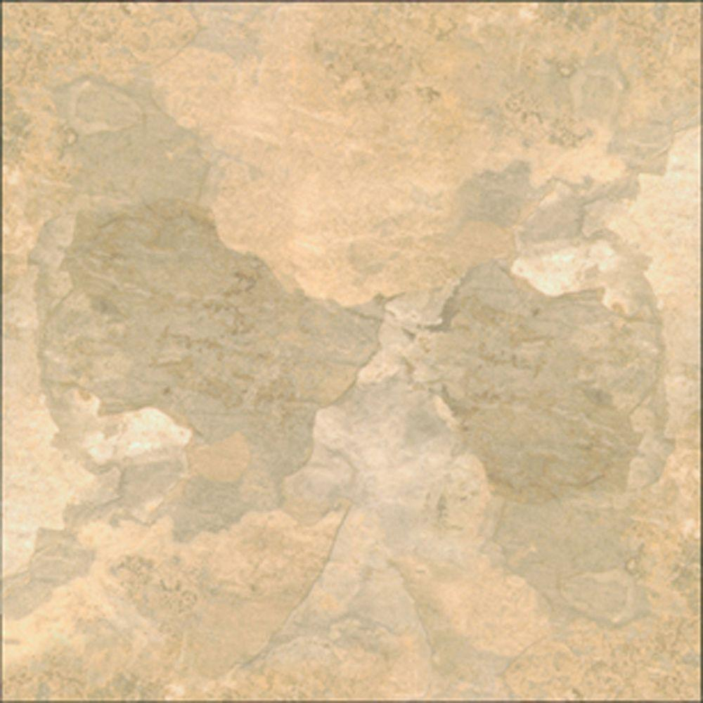TrafficMASTER Beige Slate 12 in. x 12 in. Solid Vinyl Tile (30 sq. ft. / case)