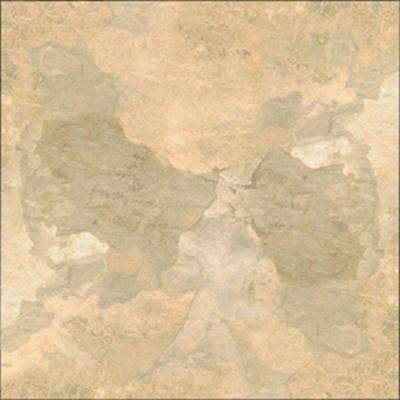 Beige Slate 12 in. x 12 in. Solid Vinyl Tile (30 sq. ft. / case)