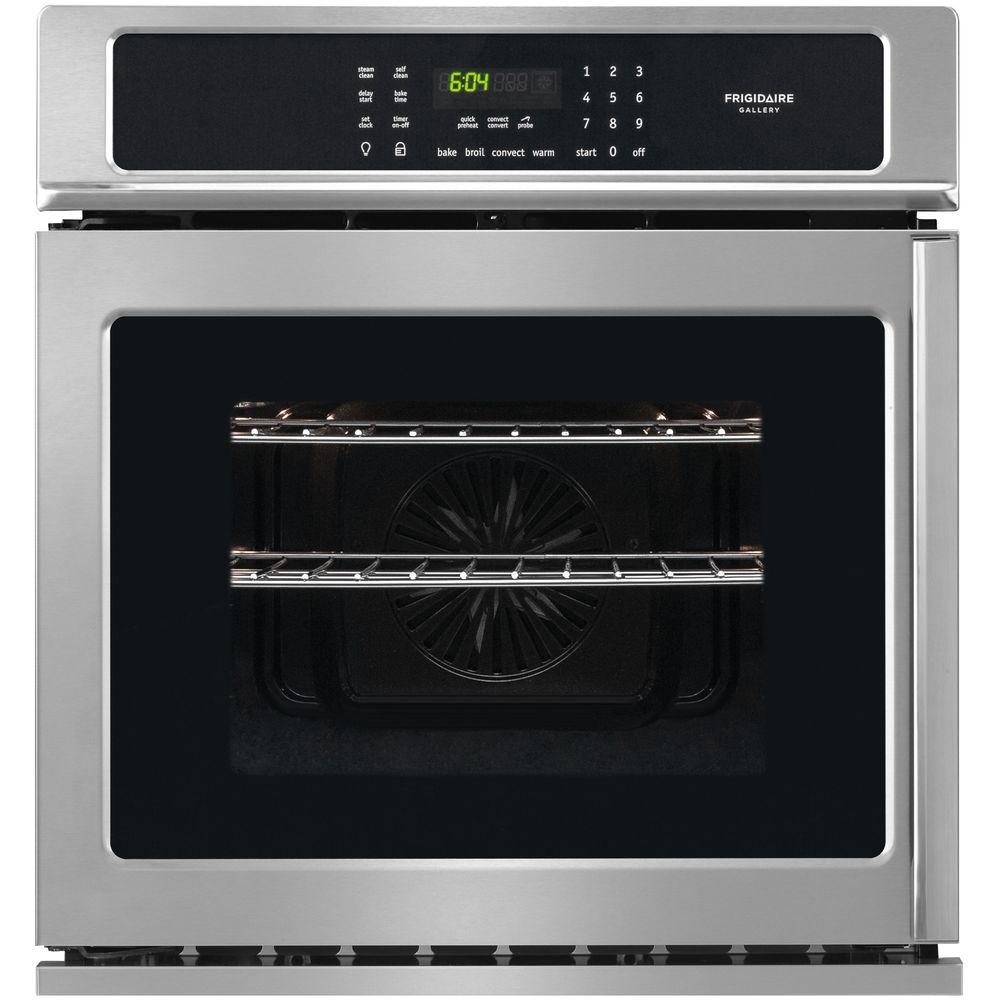 Frigidaire Gallery 27 In Single Electric Swing Door Wall Oven Self Cleaning With Convection Smudge Proof Stainless Steel