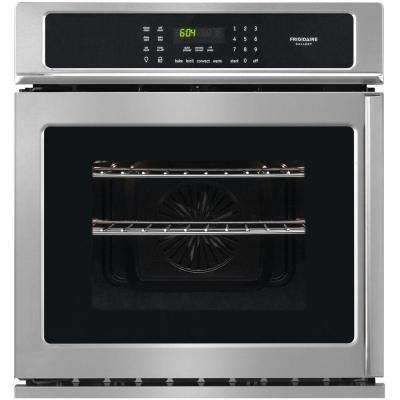 27 in. Single Electric Swing-Door Wall Oven Self-Cleaning with Convection in Smudge-Proof Stainless Steel