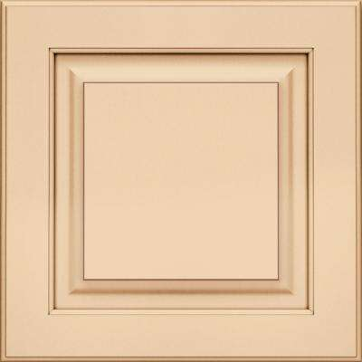 15x15 in. Cabinet Door Sample in Piermont Maple Square with Biscotti Cocoa Glaze