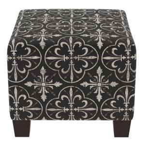 Swell Paris Tile Black Square Ottoman Caraccident5 Cool Chair Designs And Ideas Caraccident5Info