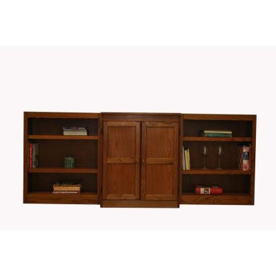 3-Piece Dry Oak Wall and Storage System (8-Shelves)