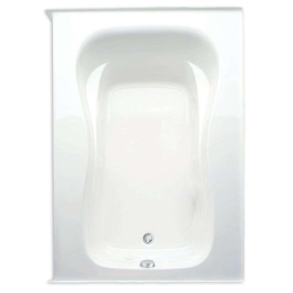 Aquatic Marratta 60 in. Acrylic Right Drain Rectanglular Alcove Soaking Bathtub in White