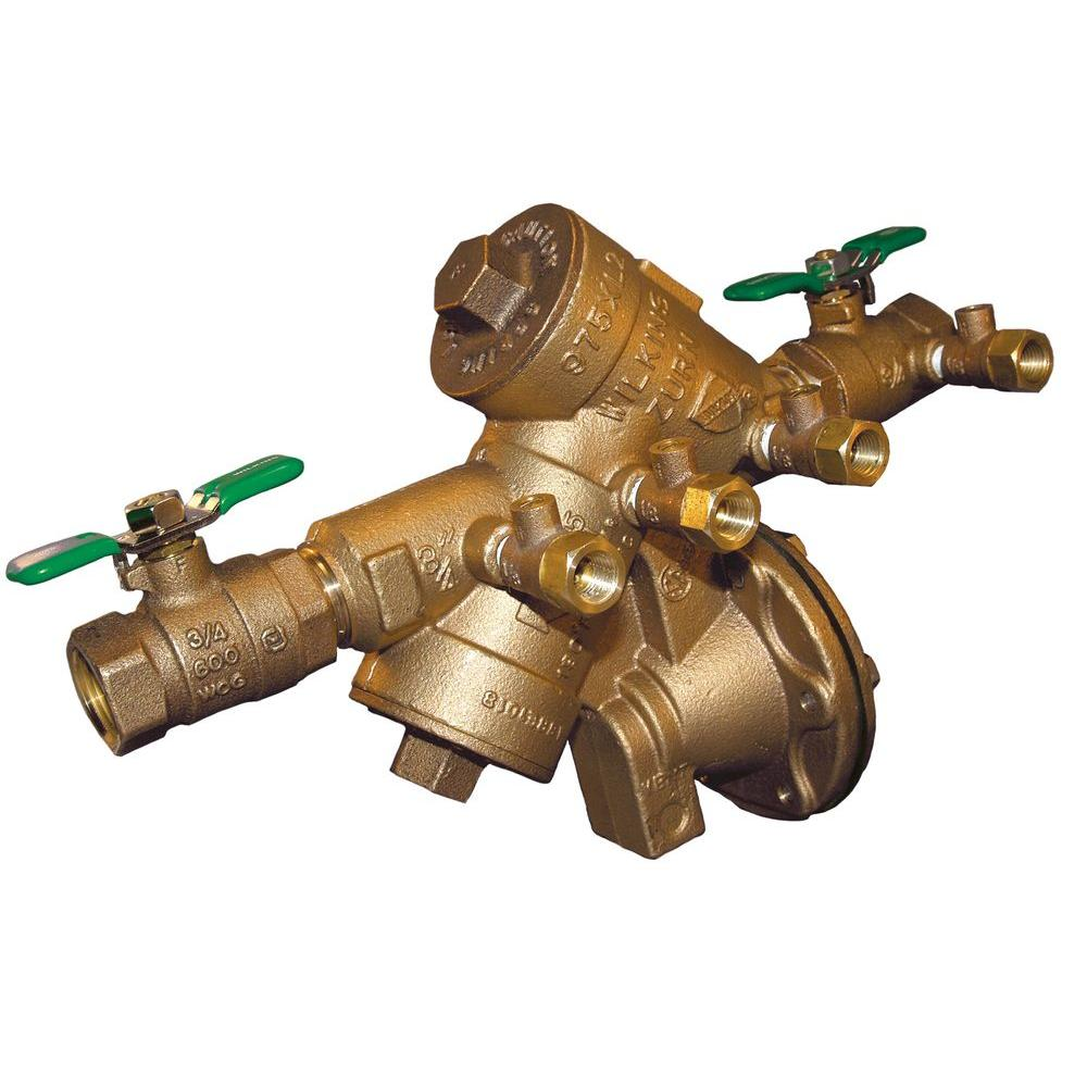 Zurn Wilkins 34 In Lead Free Bronze Reduced Pressure Backflow