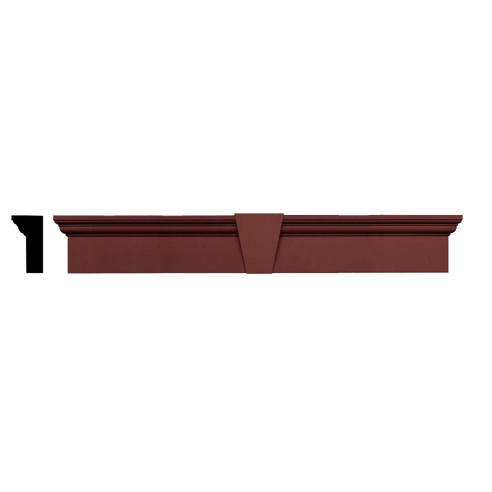 Builders Edge 3-3/4 in  x 9 in  x 65-5/8 in  Composite Flat Panel Window  Header with Keystone in 027 Burgundy Red