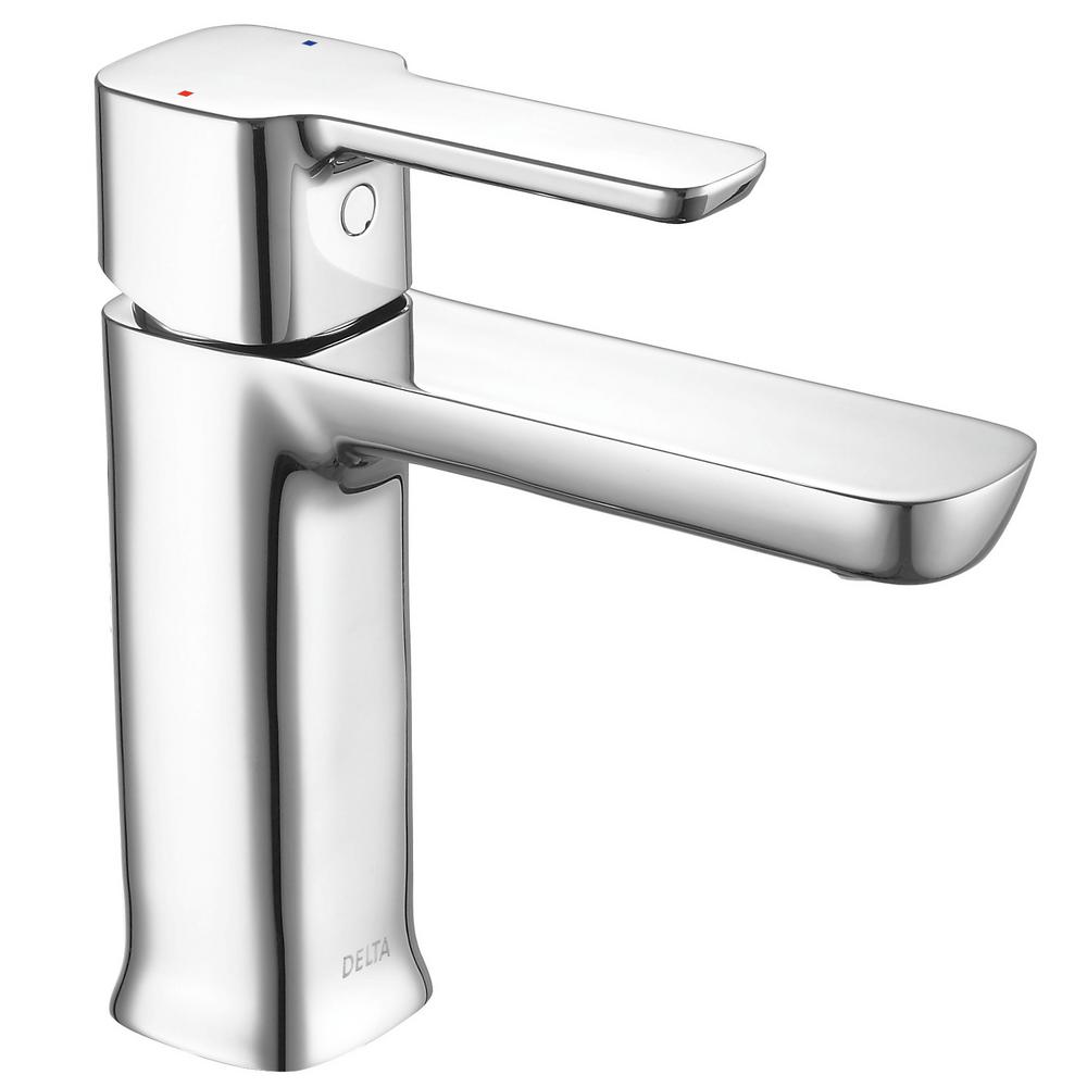 Delta Modern Low Flow Project Pack Single Hole Single Handle Bathroom Faucet In Chrome 581lf Hgm