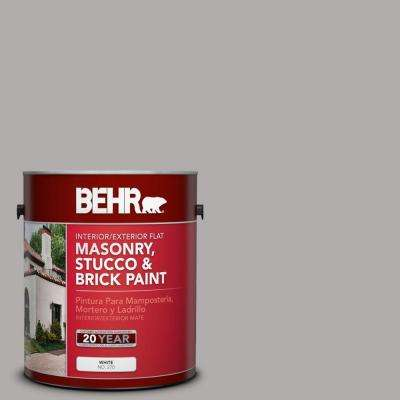 1 gal. #MS-81 Crater Gray Flat Interior/Exterior Masonry, Stucco and Brick Paint
