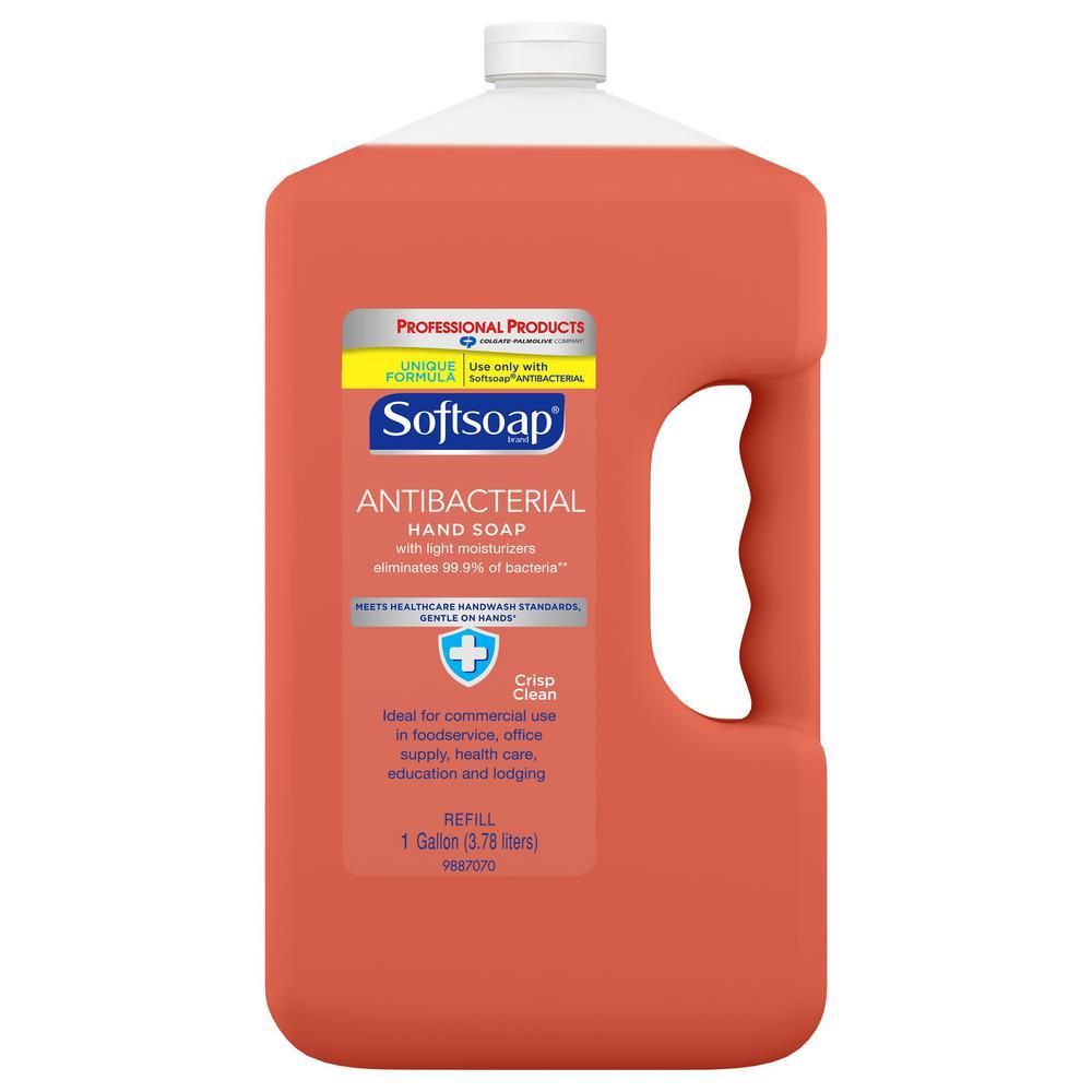 Softsoap 1 Gal Crisp Clean Antibacterial Liquid Hand Soap Refill Bottle