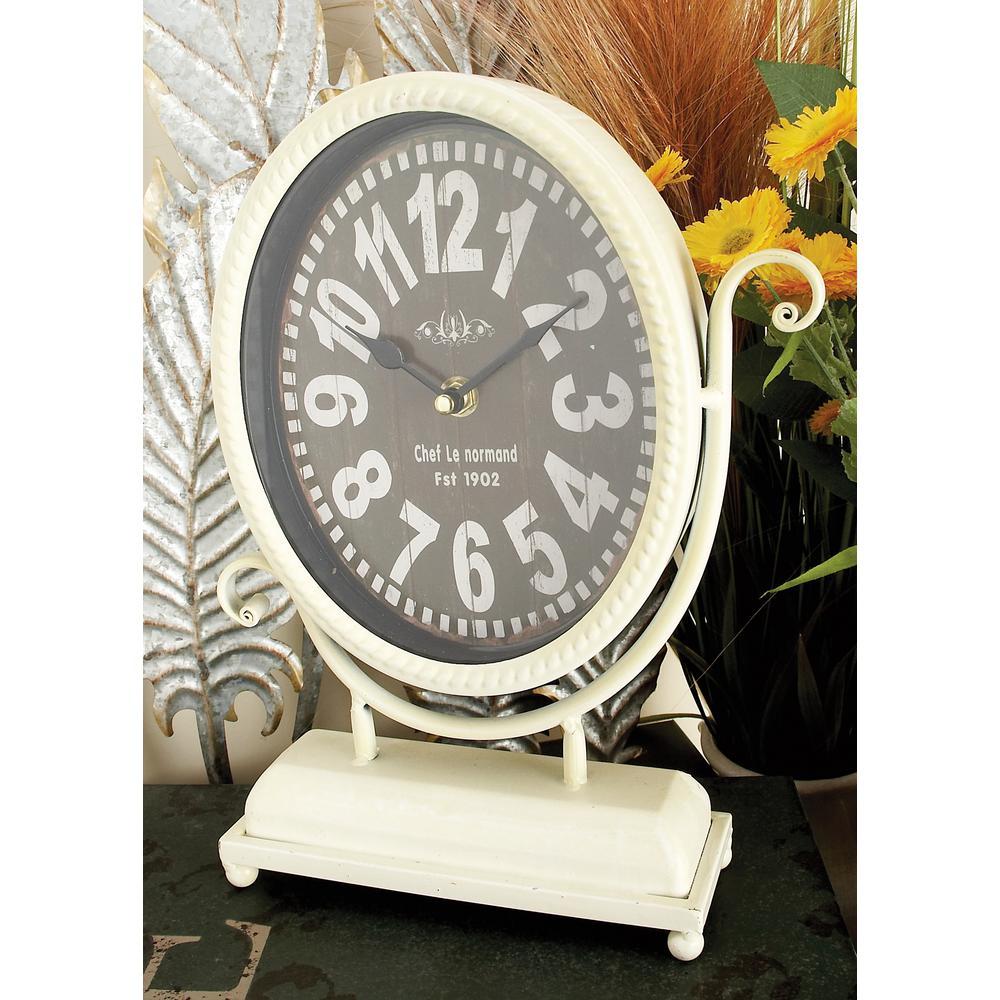 12 in. x 9 in. Oval International Caf Desk Clocks (Set of 4)
