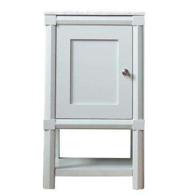 Sutton 20 in. W x 15 in. D x 34.5 in. H 1-Door Small Side Unit in Rainwater