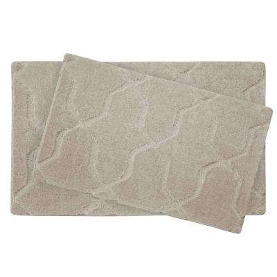 Pearl Drona Cream Puff 2-Piece Bath Mat Set