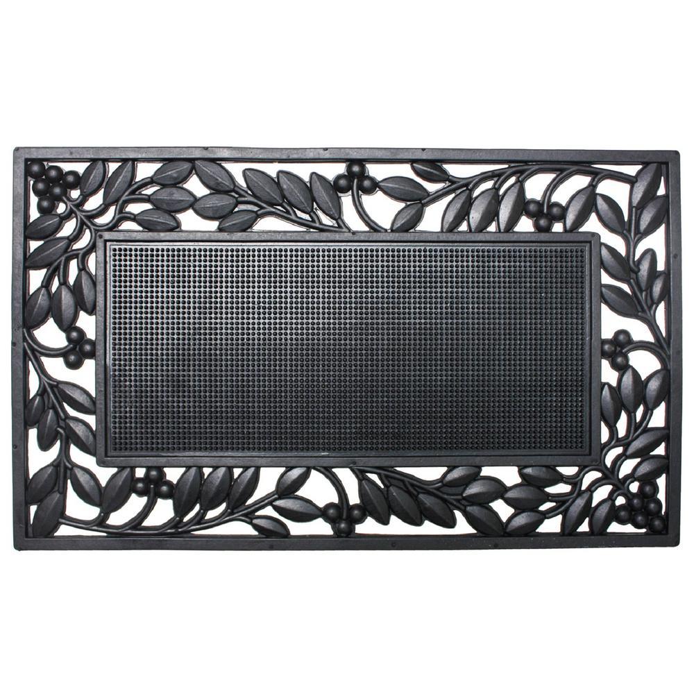 Click here to buy  18 inch x 30 inch Rubber Leaf Border Door Mat.