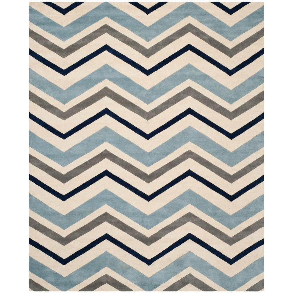 Chatham Ivory/Dark Grey 8 ft. 9 in. x 12 ft. Area