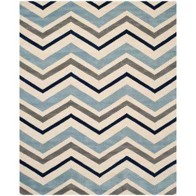 Chatham Ivory/Dark Grey 8 ft. 9 in. x 12 ft. Area Rug