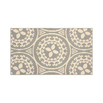 Mimosa 30 in. x 50 in. Loop Accent Rug, Lt grey/Ivory