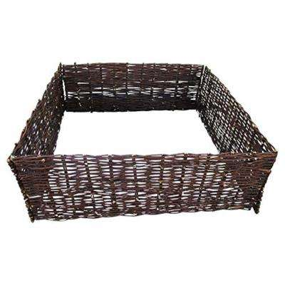 144 in. L x 48 in. W x 10 in. H Woven Willow Raised Bed Kit
