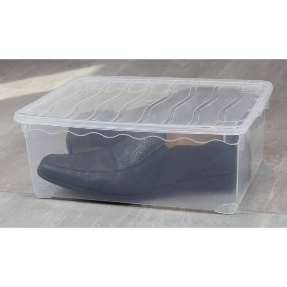 Basicwise Plastic Storage Container Shoe Box