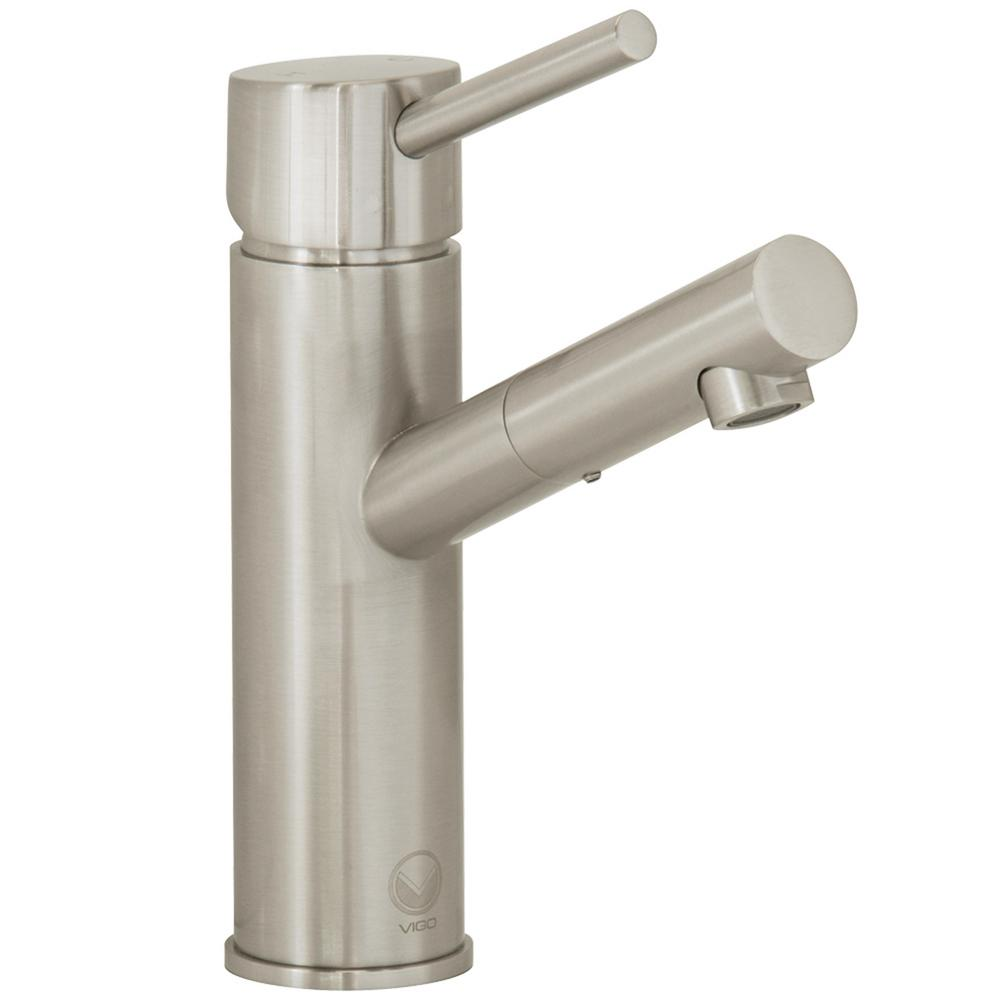 Vigo single hole 1 handle bathroom faucet in brushed - Single hole bathroom faucets brushed nickel ...