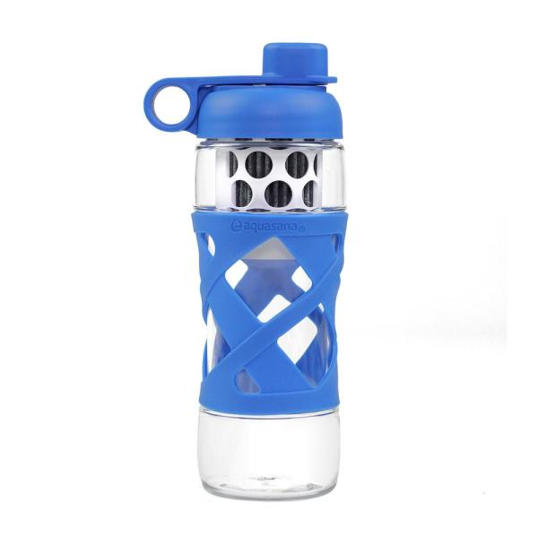 9aaeb1ec17 Aquasana 22 oz. Water Bottle with Built in Filter System in Blue THD ...