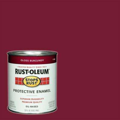 1 qt. Protective Enamel Gloss Burgundy Interior/Exterior Paint (2-Pack)