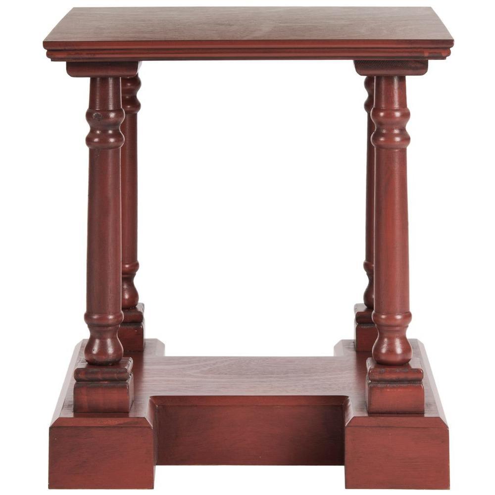 Endora Red Pine Storage End Table