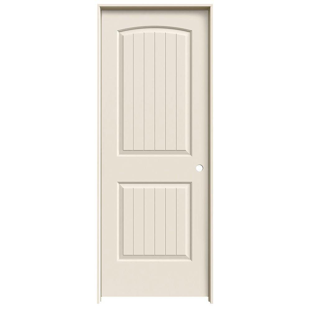 jeld wen 32 in x 78 in santa fe primed left hand smooth molded composite mdf single prehung