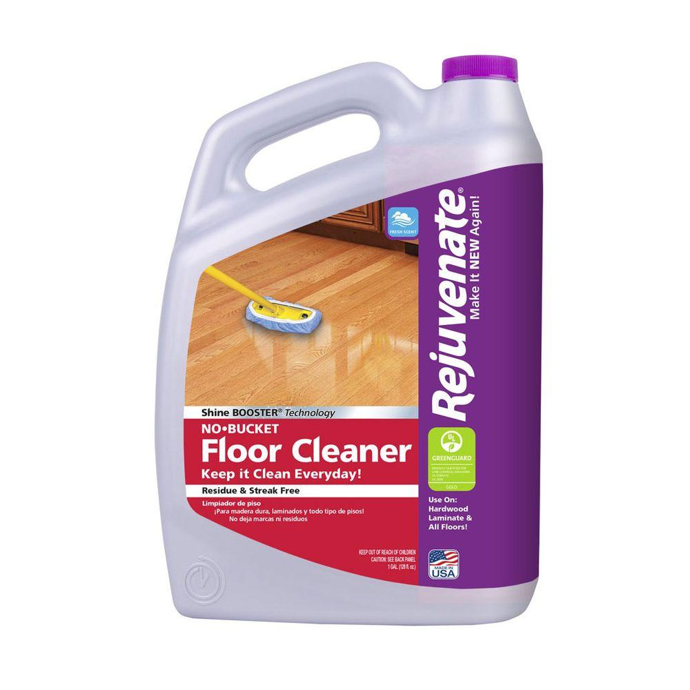 Rejuvenate 128 oz floor cleaner rj128fc the home depot for Wood floor cleaner bona
