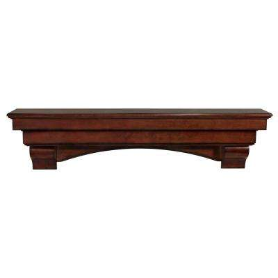 The Auburn 5 ft. Cherry Distressed Cap-Shelf Mantel
