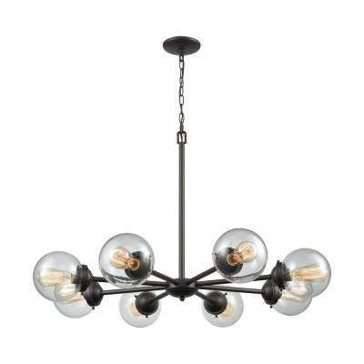 Beckett 8-Light Oil Rubbed Bronze Chandelier With Clear Glass Shades