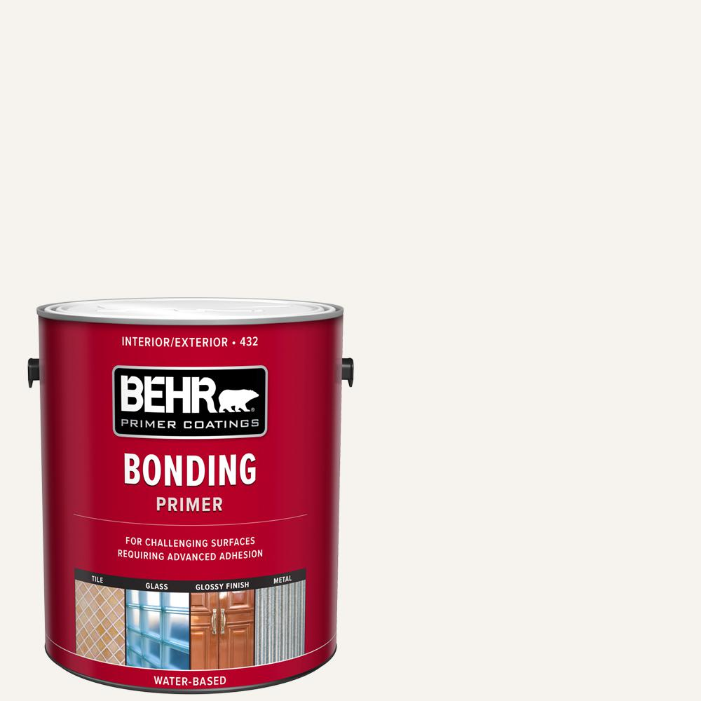 Behr 1 Gal White Bonding Interior Exterior Primer 43201 The Home Depot