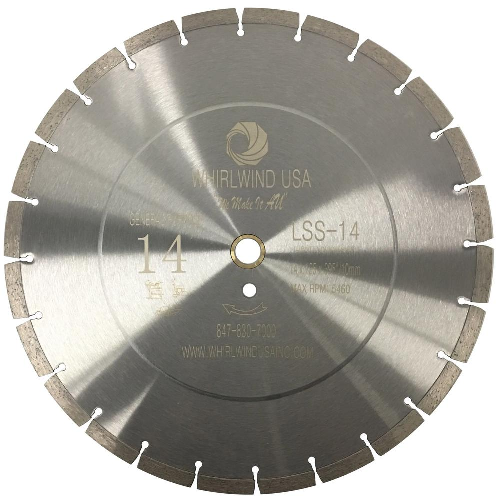 Whirlwind usa 14 in 24 teeth segmented diamond blade for dry or wet 24 teeth segmented diamond blade for dry or wet cutting greentooth Images