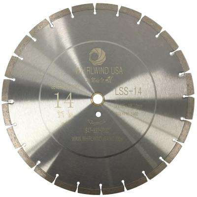14 in. 24-Teeth Segmented Diamond Blade for Dry or Wet Cutting Concrete, Stone, Brick and Masonry