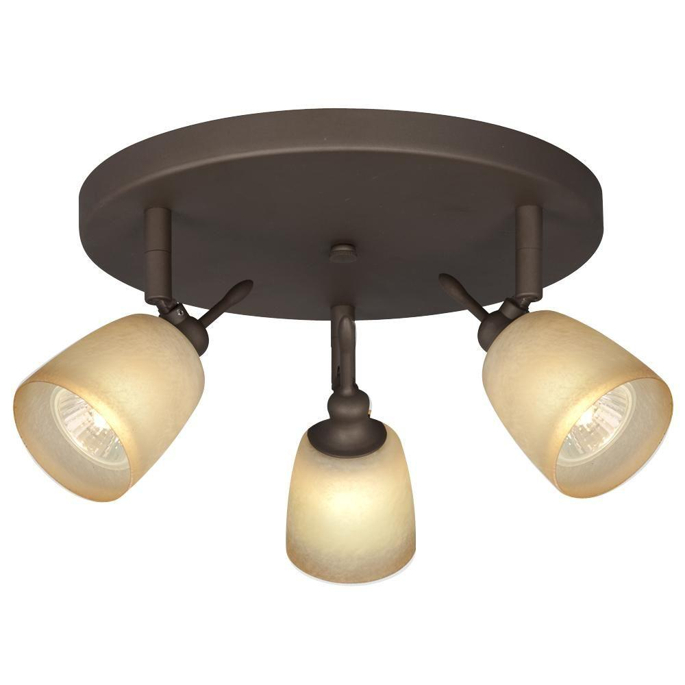 Filament Design Negron 3-Light Oil Rubbed Bronze Track Head Spotlight with Directional Heads