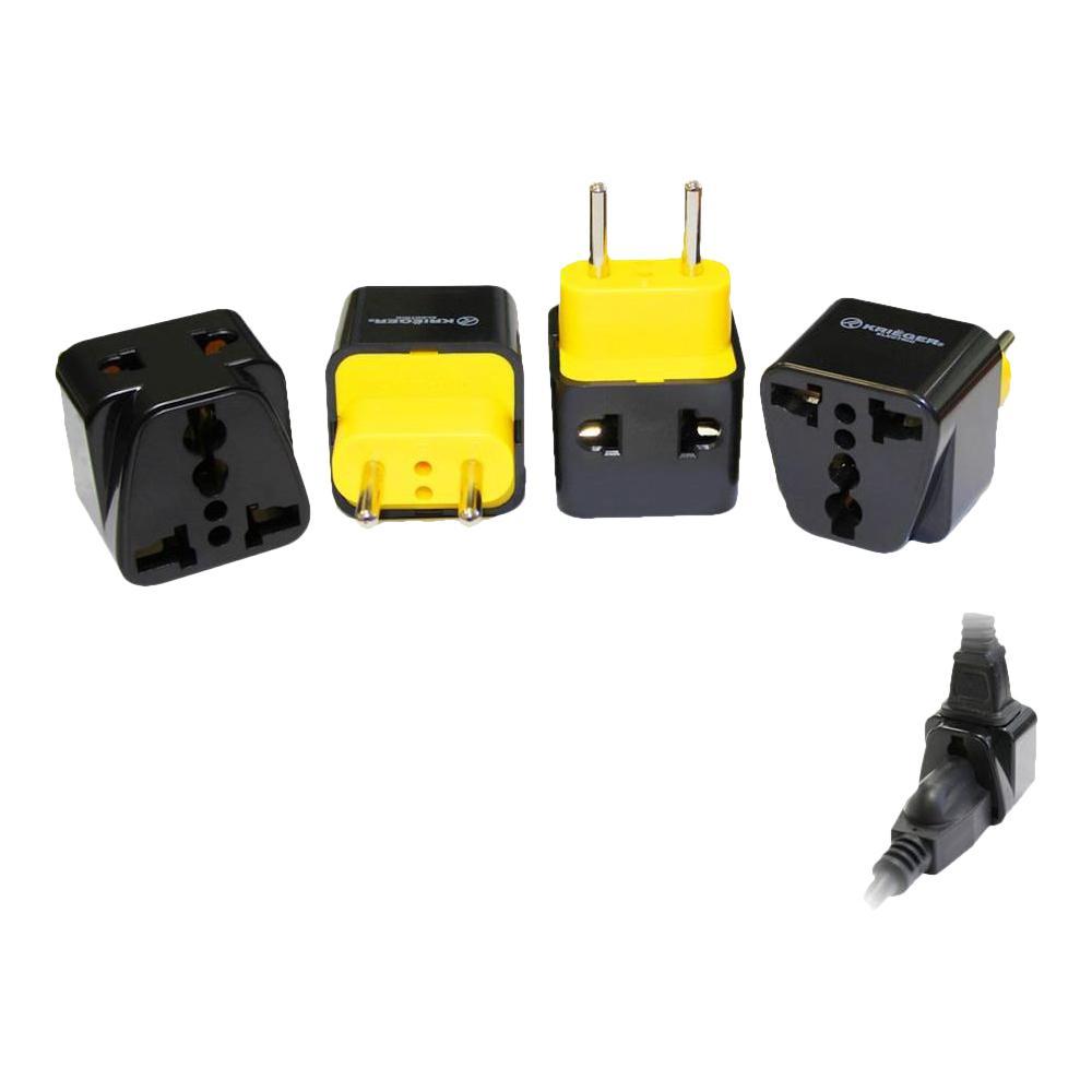 US EU UK To India 3-Round Pin Plug Adapter with Universal Output Socket