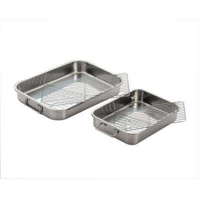 4-Piece All-In-One Lasagna Pan and Roaster with Rack