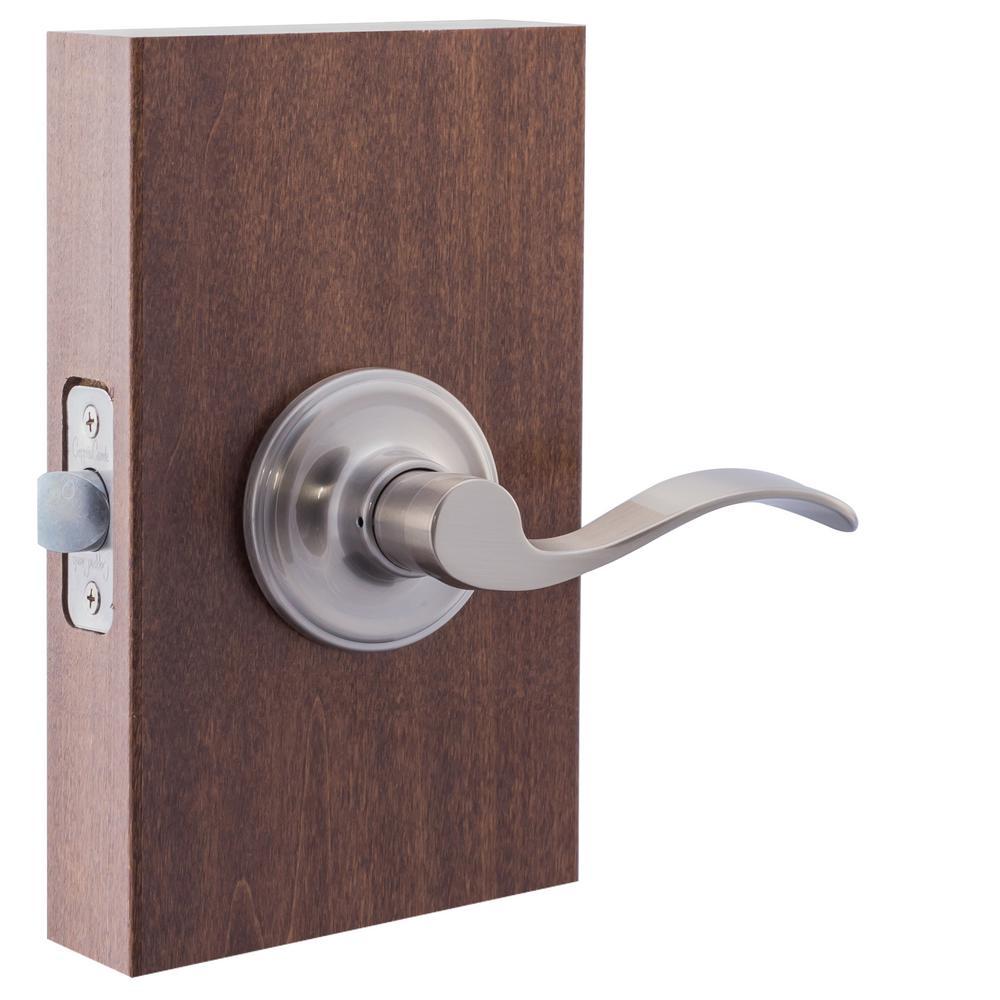 Copper Modern Satin Stainless Round Passage Hall//Closet Door Lever