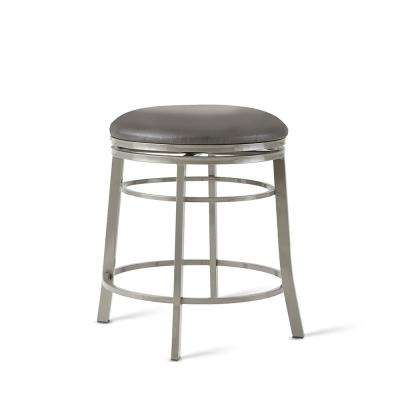 24 in. Milo Gray Backless Swivel Counter Stool
