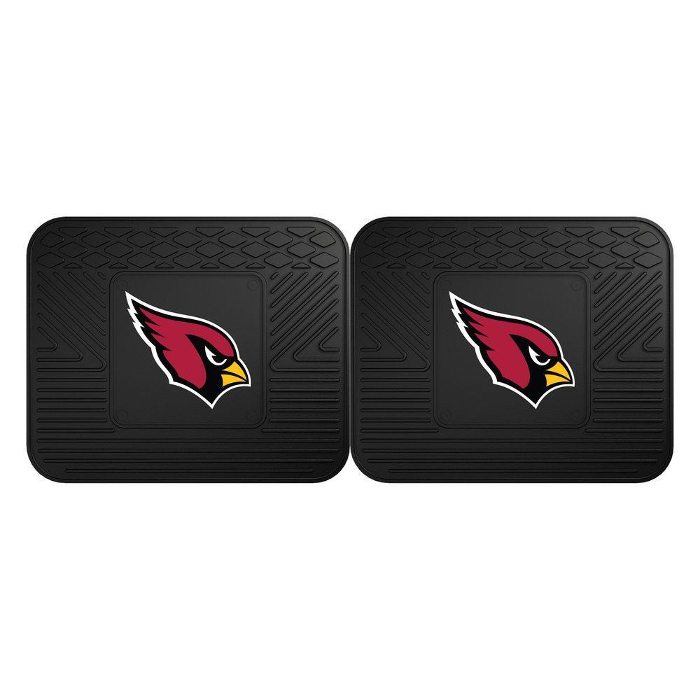 NFL Arizona Cardinals Black Heavy Duty 2-Piece 14 in. x 17