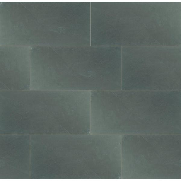 Montauk Blue 12 in. x 24 in. Gauged Slate Floor and Wall Tile (10 sq. ft. / case)