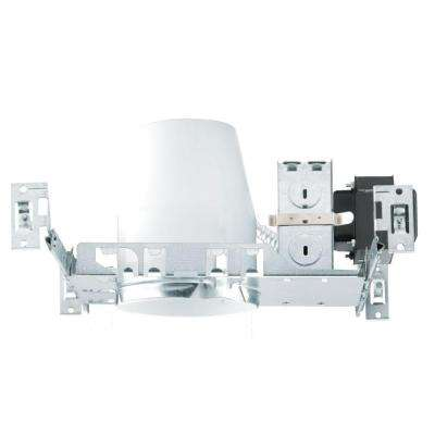 NICOR 4 in. Recessed Universal Low-Voltage Non-IC Rated Airtight Housing for New Construction Applications