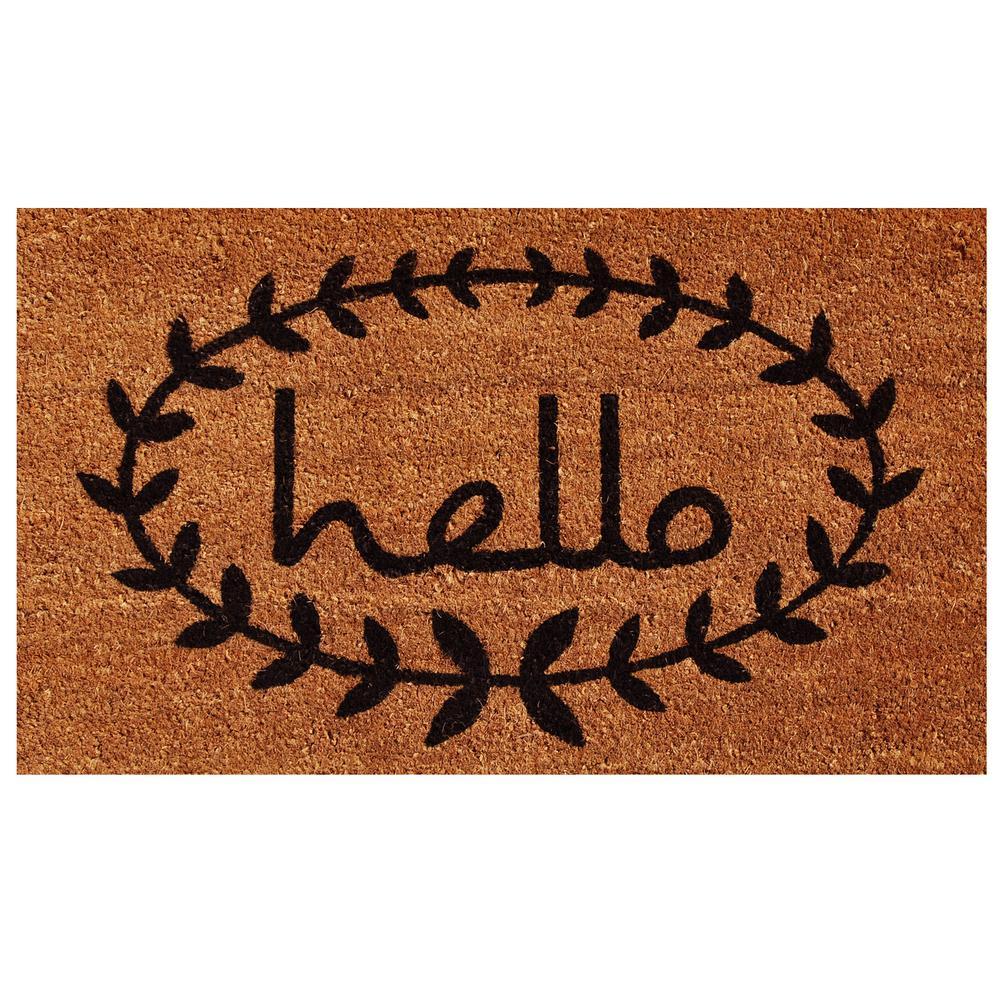Calico Hello Door Mat 17 in. x 29 in.