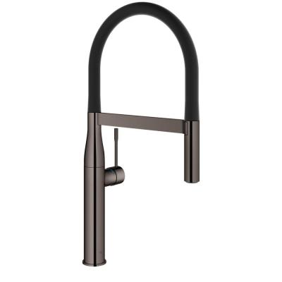 Essence New Single-Handle Pull-Down Sprayer Kitchen Faucet in Hard Graphite