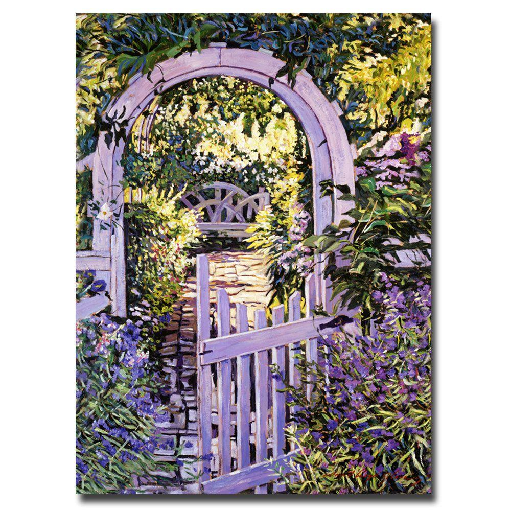 24 in. x 32 in. Country Garden Gate Canvas Art