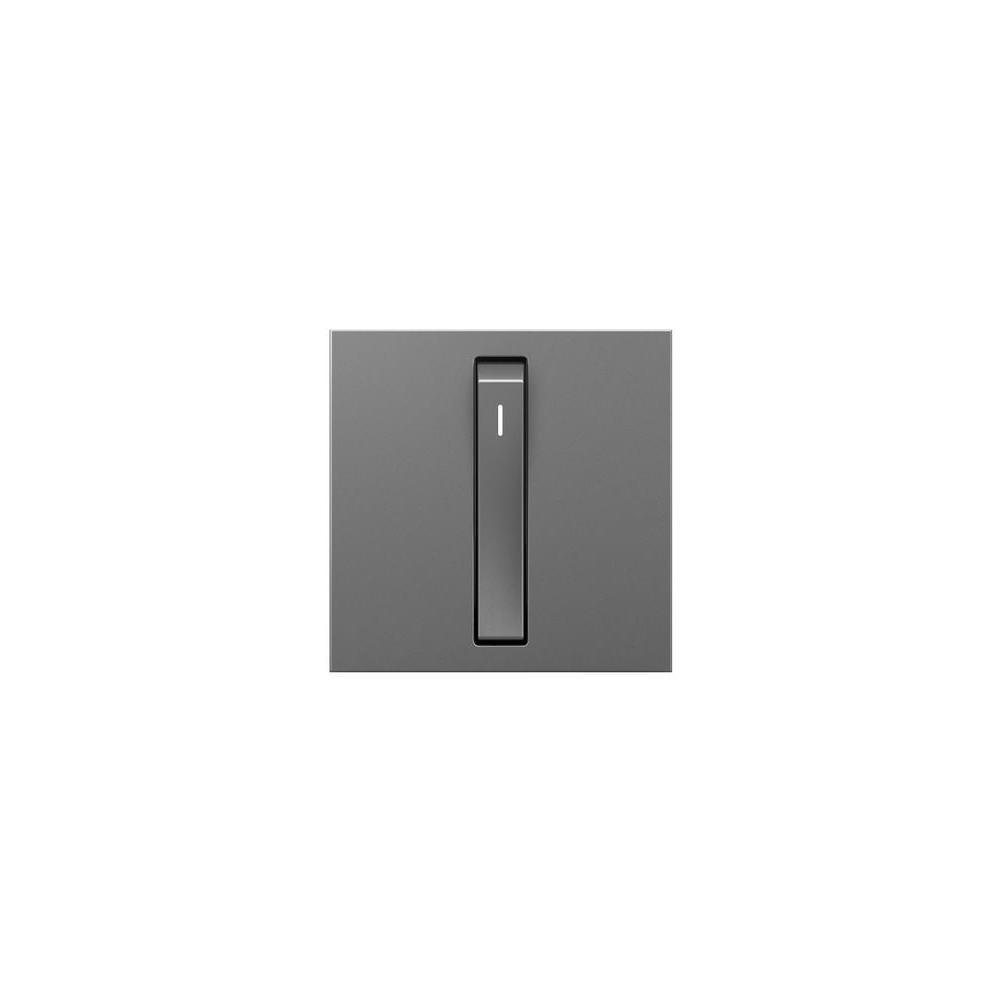 Legrand adorne 15 Amp Single Pole 3-Way Rocker Whisper Switch, Magnesium