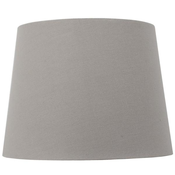 Mix and Match 10 in. Dia x 7.5 in. H Gray Round Accent Shade